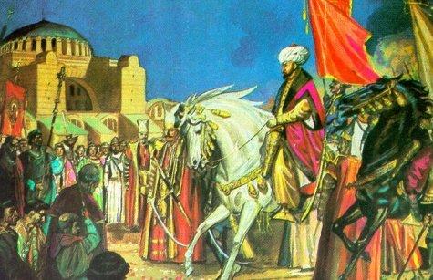 محمد الفاتح أمام أياصوفيا